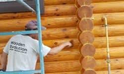 Wooden Evolution: Покраска наружных стен сруба - фото 5