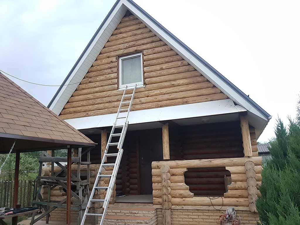 Wooden Evolution: Реставрация фасада дачного дома (Бровары) - фото 5