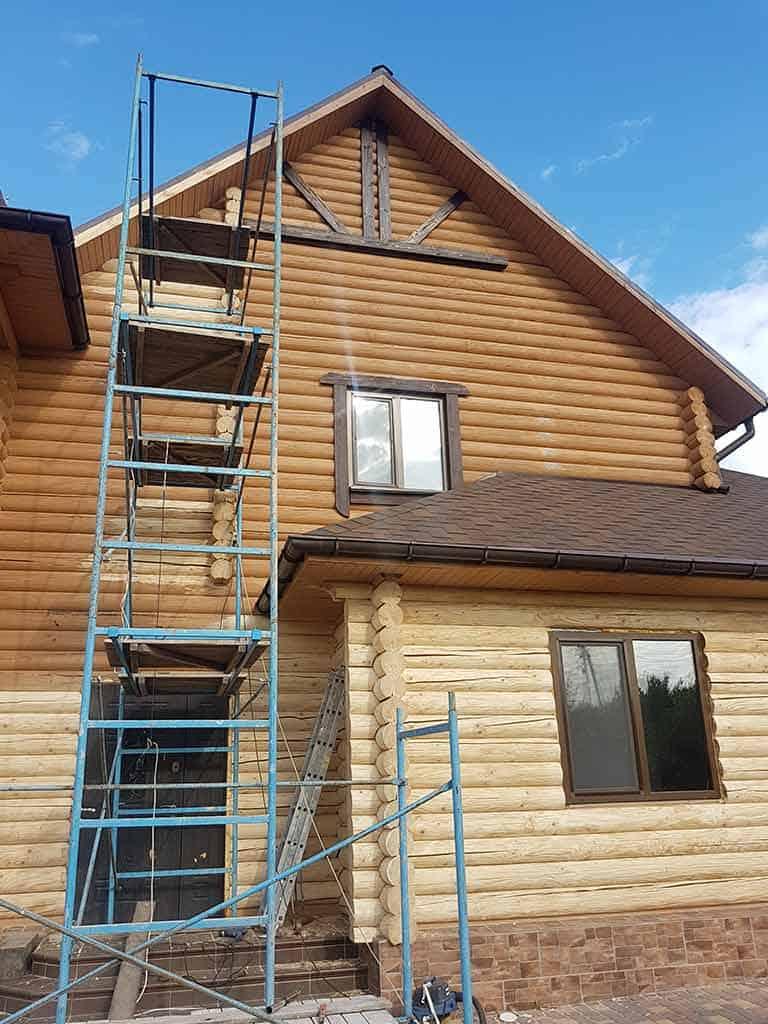 Wooden Evolution: Реставрация и утепление фасада дома (Мархаловка) - фото 5