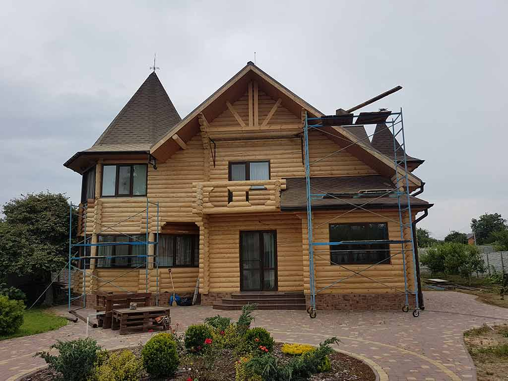 Wooden Evolution: Реставрация и утепление фасада дома (Мархаловка) - фото 7