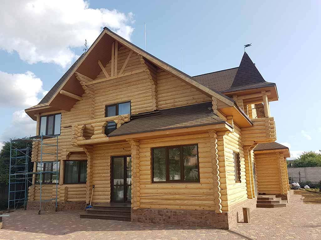 Wooden Evolution: Реставрация и утепление фасада дома (Мархаловка) - фото 9