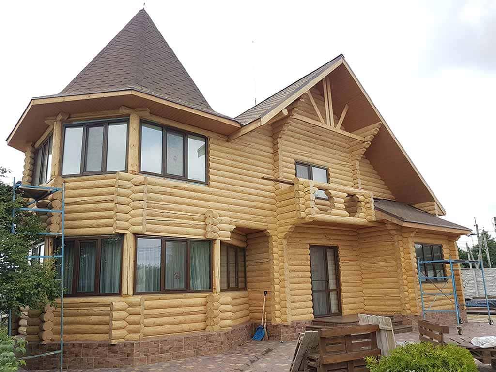 Wooden Evolution: Реставрация и утепление фасада дома (Мархаловка) - фото 11