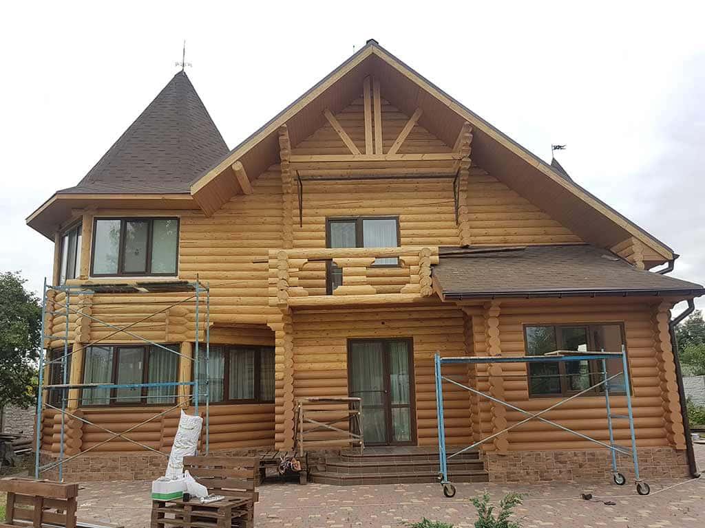 Wooden Evolution: Реставрация и утепление фасада дома (Мархаловка) - фото 14