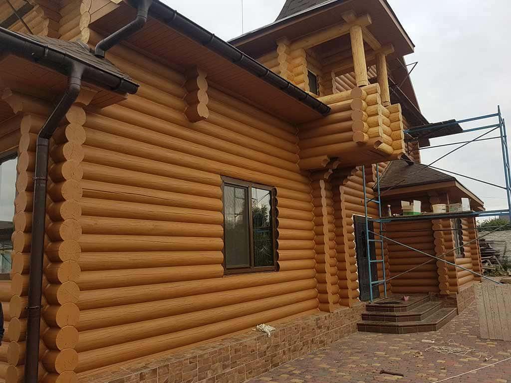 Wooden Evolution: Реставрация и утепление фасада дома (Мархаловка) - фото 15