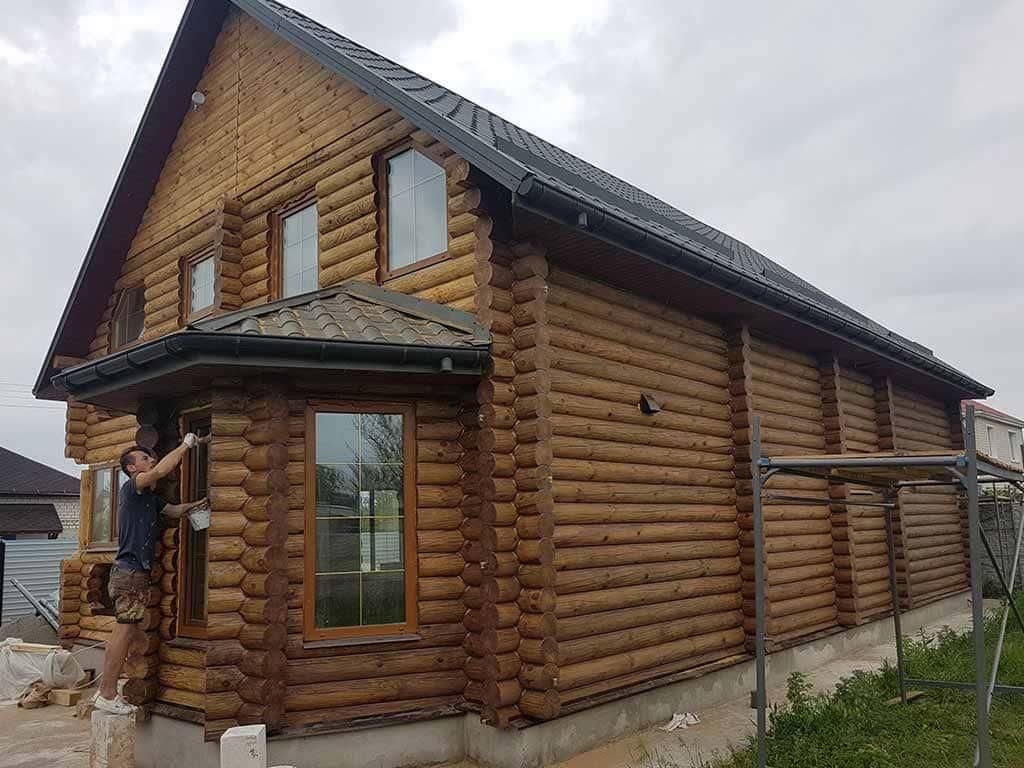 Wooden Evolution: Реставрация фасада дома (садовое общество «Ландыш») - фото 9