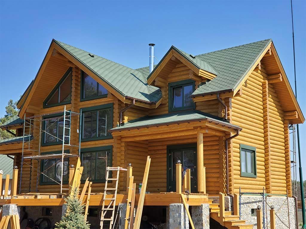 Лебедевка: реставрация фасада и террас, изготовление и монтаж наличников (фото 20)
