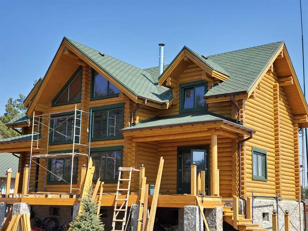 Лебедевка: реставрация фасада и террас, изготовление и монтаж наличников (фото 23)