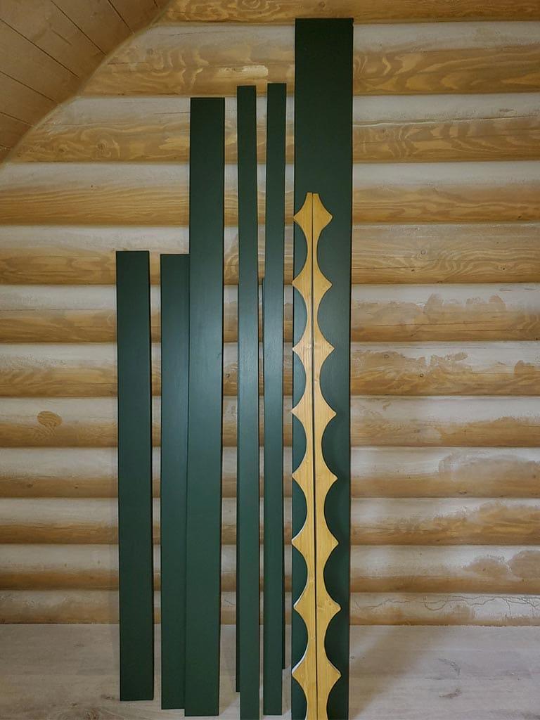 Лебедевка: реставрация фасада и террас, изготовление и монтаж наличников (фото 5)