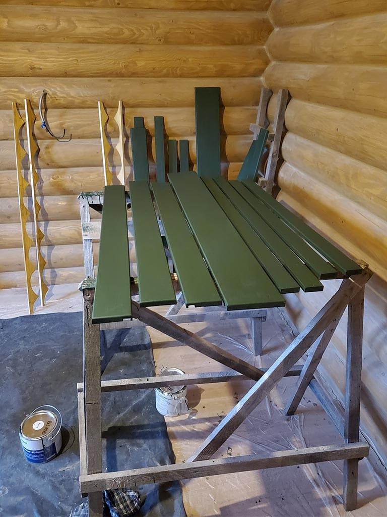 Лебедевка: реставрация фасада и террас, изготовление и монтаж наличников (фото 6)