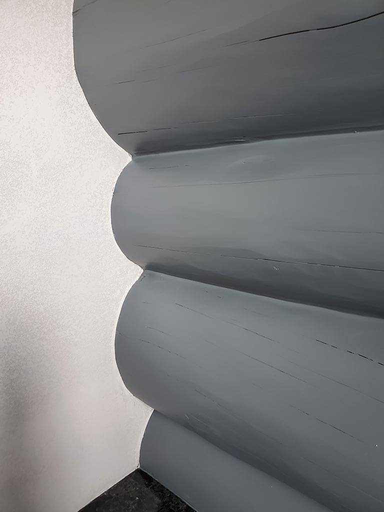 Осокорки: внутренняя отделка дикого сруба (фото 22)