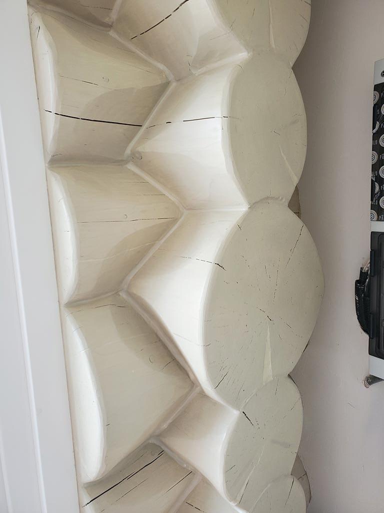 Осокорки: внутренняя отделка дикого сруба (фото 24)